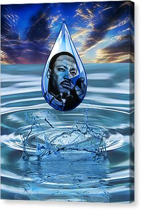 Martin Luther King Jr Canvas Print - People Changing History Martin Luther King Jr by Marvin Blaine