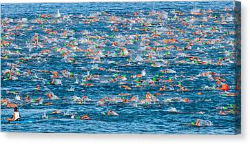 People Competing In The Ford Ironman Canvas Print by Panoramic Images