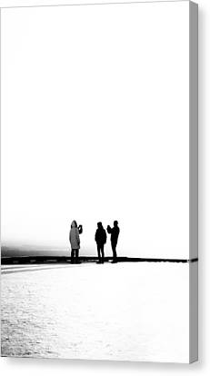 People Lost In Winter Snow And Time Canvas Print
