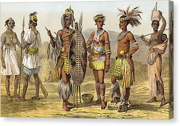 People Of Ethiopian Race In The Late Canvas Print