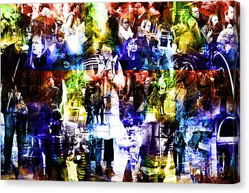 People Of New York City Canvas Print by John Rizzuto