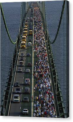 People Participating In The Annual Canvas Print by Phil Schermeister