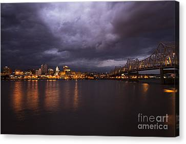 Peoria Dramatic Skyline Canvas Print by Andrea Silies
