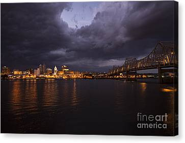Peoria Stormy Cityscape Canvas Print