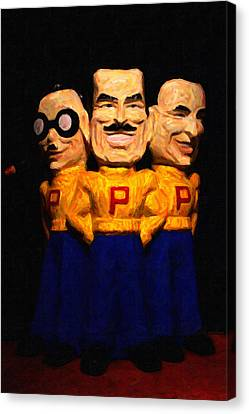 Pep Boys - Manny Moe Jack - Painterly - 7d17428 Canvas Print by Wingsdomain Art and Photography