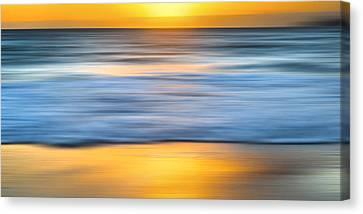 Surrealistic Canvas Print - Pepper Beach Gold by Sean Davey