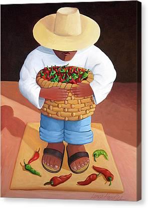 Pepper Boy Canvas Print by Lance Headlee