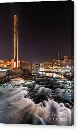 Pepperell Mill At Night Canvas Print by Benjamin Williamson
