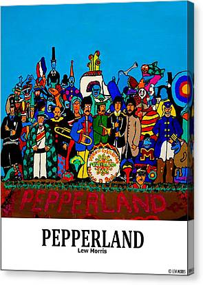 Pepperland Canvas Print by Lew Morris