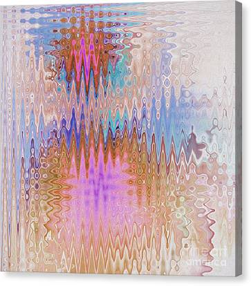 Peppermint Abstract Canvas Print