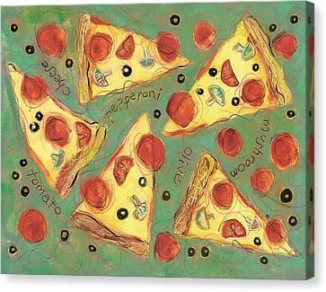 Pepperoni Pizza Canvas Print by Jen Norton