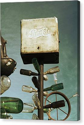 Pepsi Bottle Tree - Route 66 Canvas Print by Glenn McCarthy Art and Photography