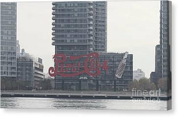 Pepsi Cola Landmark Sign Canvas Print by John Telfer