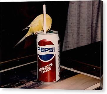 Pepsi Girl Canvas Print