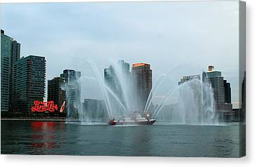 Pepsi Sign And Fdny  Canvas Print