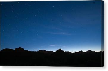 Canvas Print featuring the photograph Peralta Trail At Sunrise by Monte Stevens