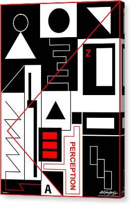 Perception I - Text Canvas Print by Asbjorn Lonvig