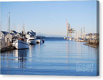 Canvas Print featuring the photograph Percival Landing by Larry Keahey