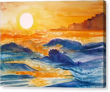 Perdido Key Sunset Canvas Print by L Lauter