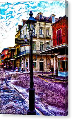 Pere Antoine Alley - New Orleans Canvas Print by Bill Cannon