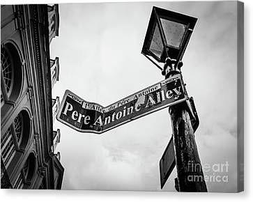 Canvas Print - Pere Antoine Alley - New Orleans- Bw by Kathleen K Parker