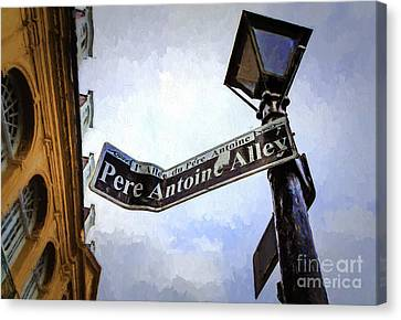 Canvas Print - Pere Antoine Alley-painting by Kathleen K Parker