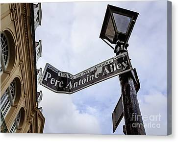Canvas Print - Pere Antoine Alley Sign-nola by Kathleen K Parker