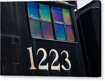 Pere Marquette Locomotive 1223 Canvas Print by Adam Romanowicz