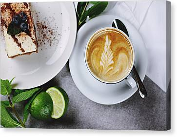 Kitchen Wall Canvas Print - Perfect Breakfast by Happy Home Artistry