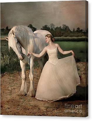 White Horses Canvas Print - Perfect Dancers by Dorota Kudyba