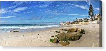 Canvas Print featuring the photograph Perfect Day At Horseshoe Beach by Peter Tellone