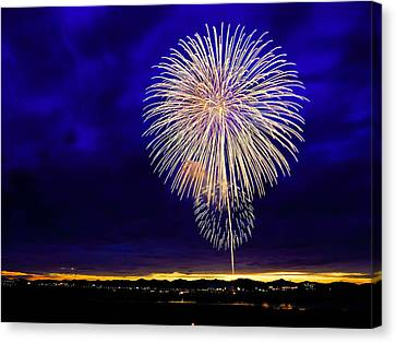Perfect Fire Works Canvas Print by Britten Adams