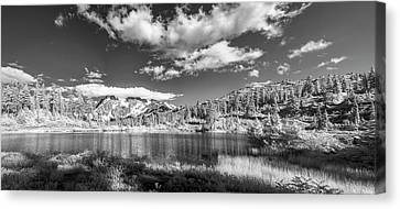 Canvas Print featuring the photograph Perfect Lake At Mount Baker by Jon Glaser