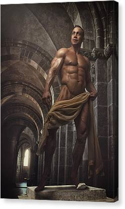 Canvas Print - Perfect Male Statue by Marcin and Dawid Witukiewicz