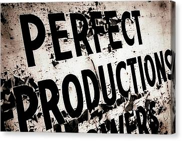 Canvas Print featuring the photograph Perfect Productions by Gray  Artus
