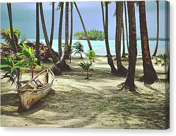 Perfect Tropical Paradise Islands With Turquoise Water And White Sand Canvas Print