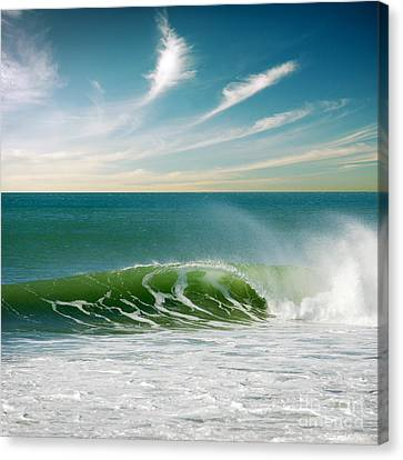 Crashing Canvas Print - Perfect Wave by Carlos Caetano