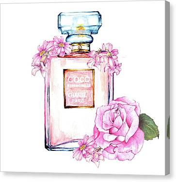 Perfume Florals Canvas Print