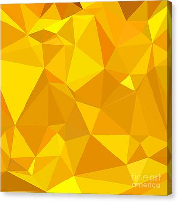 Peridot Yellow Abstract Low Polygon Background Canvas Print