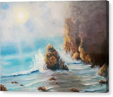Perilous Shore Canvas Print by Joni McPherson