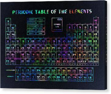 Periodic Table Canvas Print - Periodic Table Of The Elements 2 by Bekim Art