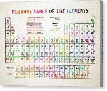 Periodic Table Canvas Print - Periodic Table Of The Elements 3 by Bekim Art