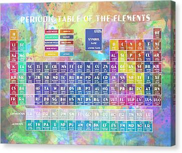 Periodic Table Canvas Print - Periodic Table Of The Elements 8 by Bekim Art