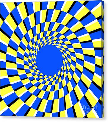 Peripheral Drift Illusion  Canvas Print by SPL and Photo Researchers
