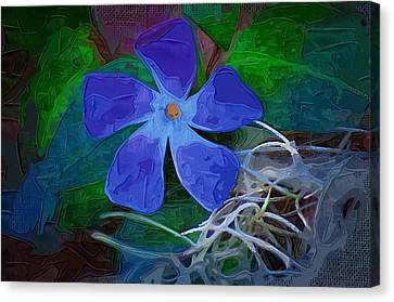 Canvas Print featuring the digital art Periwinkle Blue by Donna Bentley