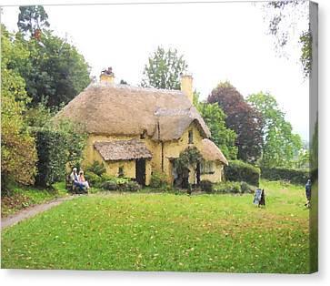 Periwinkle Cottage II Canvas Print by Jayne Wilson