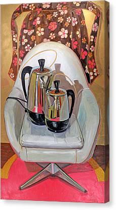 Kitchen Chair Canvas Print - Perker Maesta by Jennie Traill Schaeffer