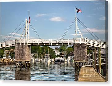 Perkins Cove Bridge Canvas Print by Benjamin Williamson
