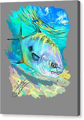 Permit On Fly  Canvas Print