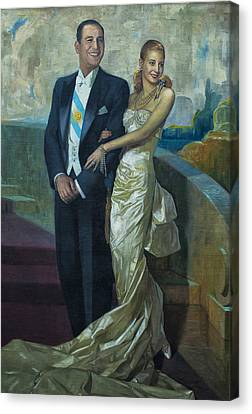 Peron Y Evita Canvas Print by Hans Wolfgang Muller Leg